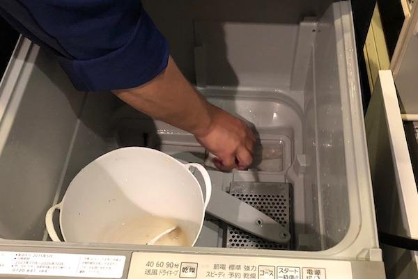 ビルトイン食洗機お掃除